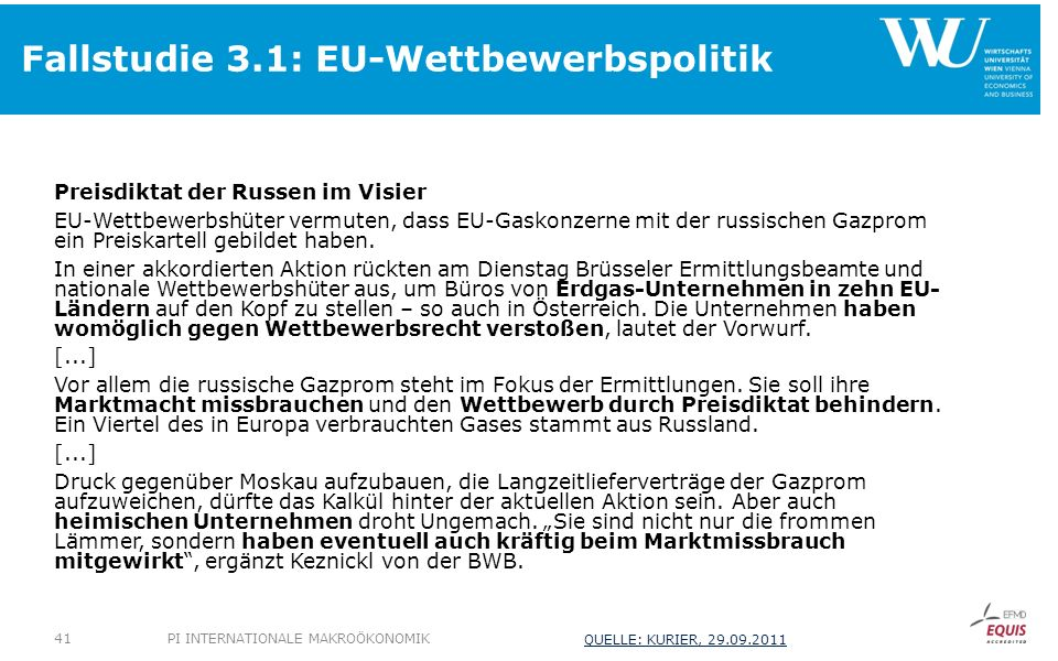 Fallstudie 3.1: EU-Wettbewerbspolitik