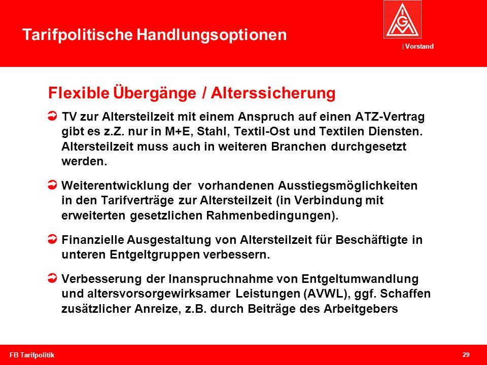 Flexible Übergänge / Alterssicherung