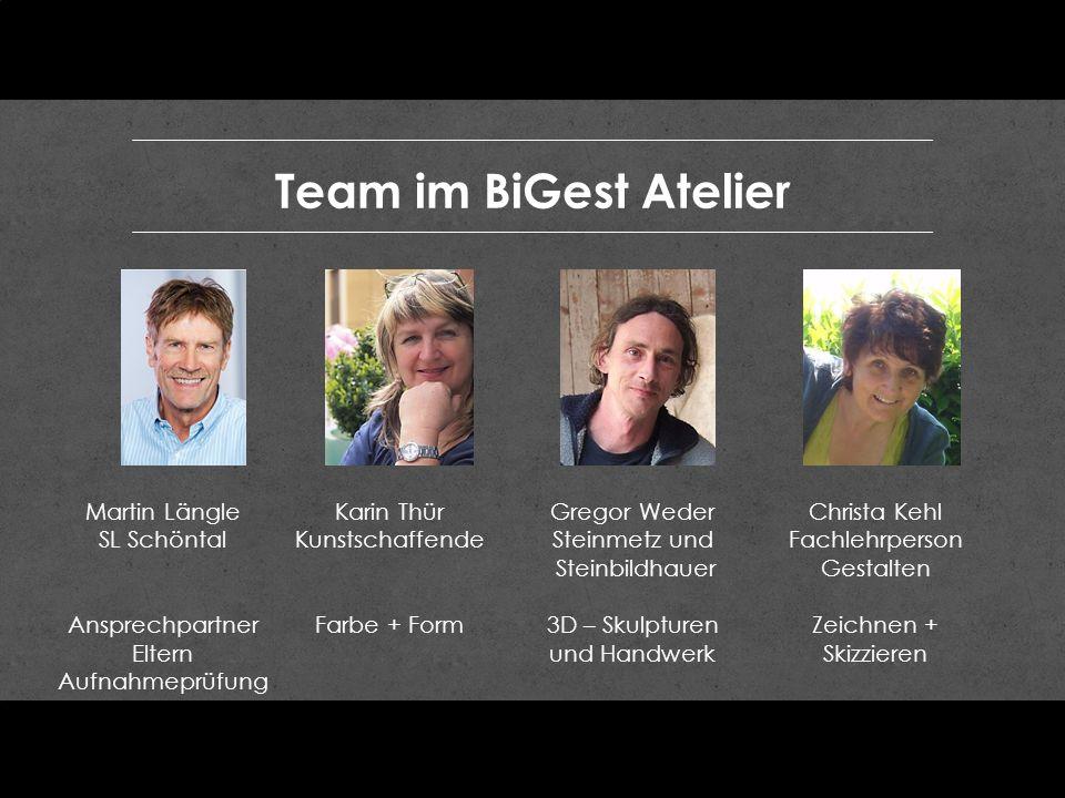 Team im BiGest Atelier Martin Längle SL Schöntal Ansprechpartner