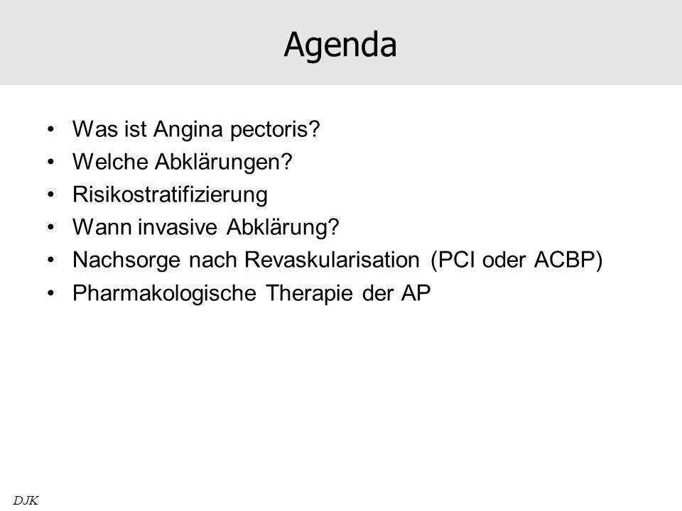 Agenda Was ist Angina pectoris Welche Abklärungen