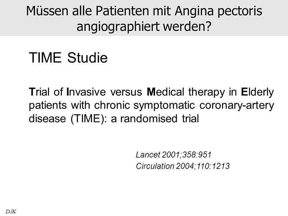 Müssen alle Patienten mit Angina pectoris angiographiert werden