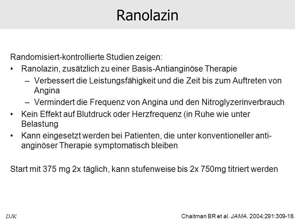 Ranolazin Randomisiert-kontrollierte Studien zeigen: