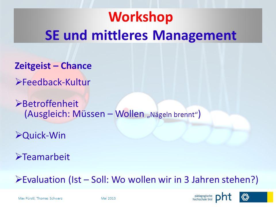 Workshop SE und mittleres Management