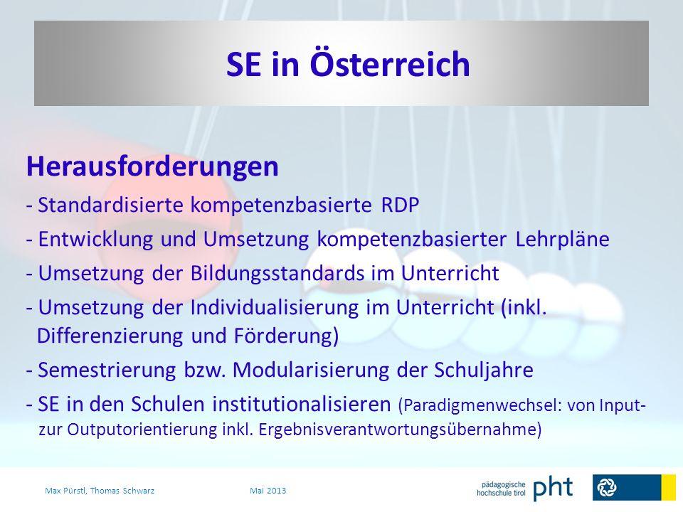 SE in Österreich Herausforderungen