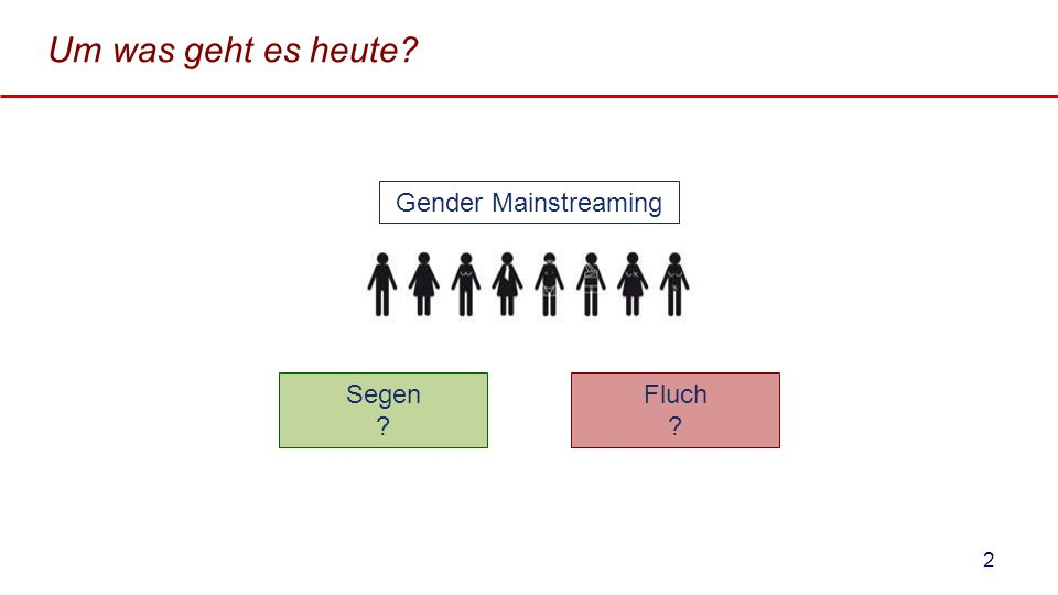 Um was geht es heute Gender Mainstreaming Segen Fluch