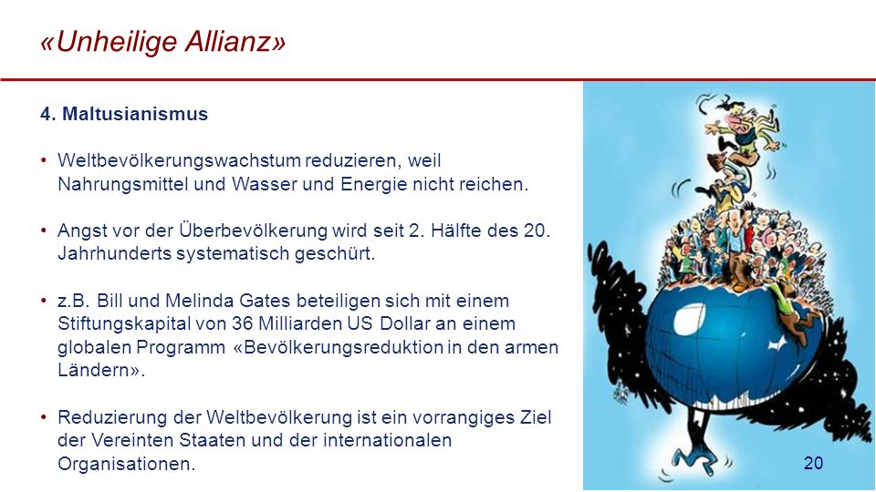 «Unheilige Allianz» 4. Maltusianismus