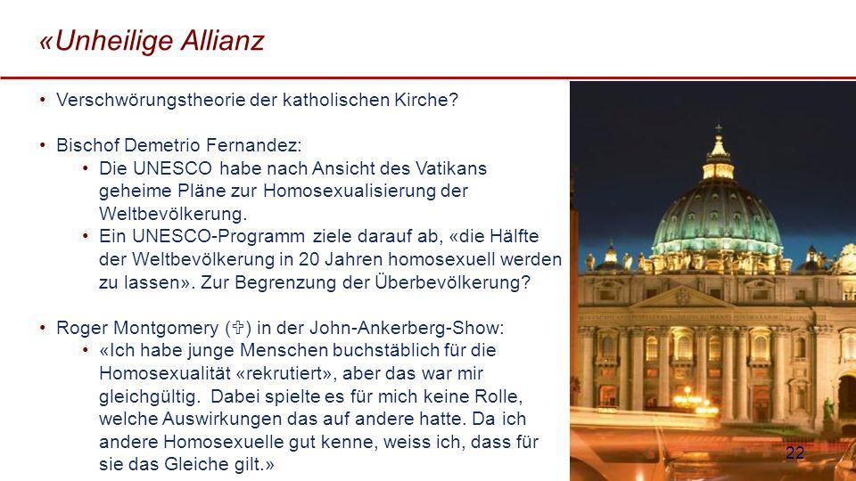 «Unheilige Allianz Verschwörungstheorie der katholischen Kirche