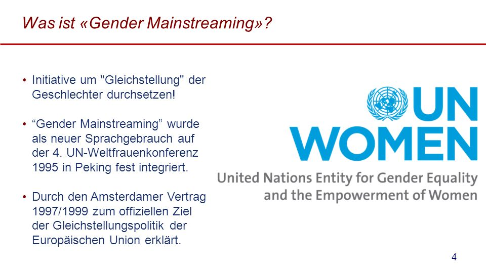 Was ist «Gender Mainstreaming»