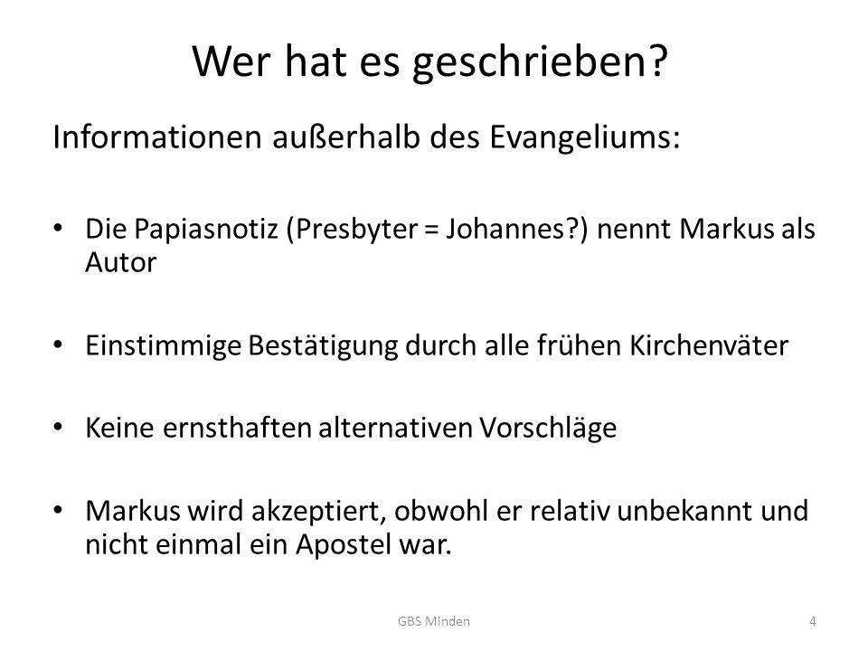 Wer hat es geschrieben Informationen außerhalb des Evangeliums: