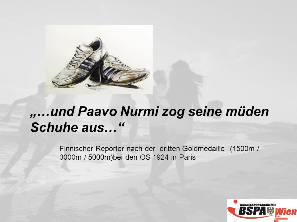 """""""…und Paavo Nurmi zog seine müden Schuhe aus…"""