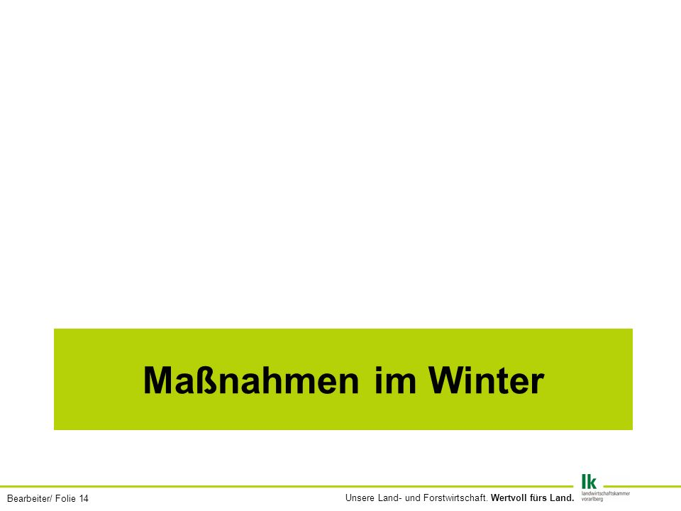 Maßnahmen im Winter