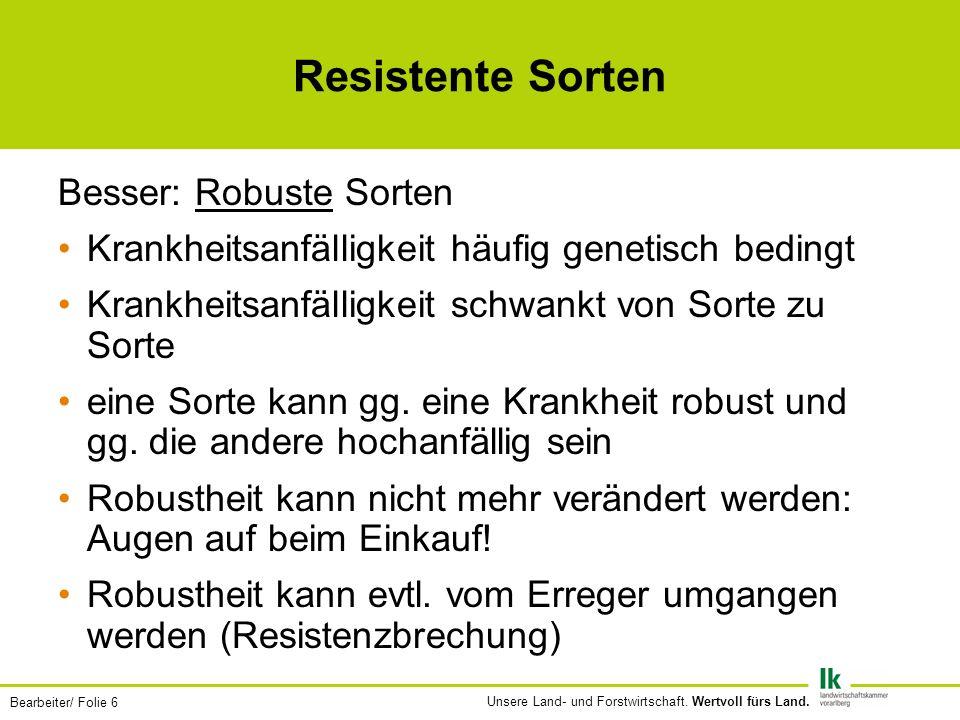 Resistente Sorten Besser: Robuste Sorten