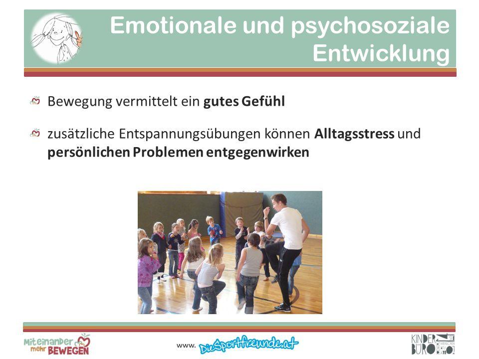 Emotionale und psychosoziale Entwicklung