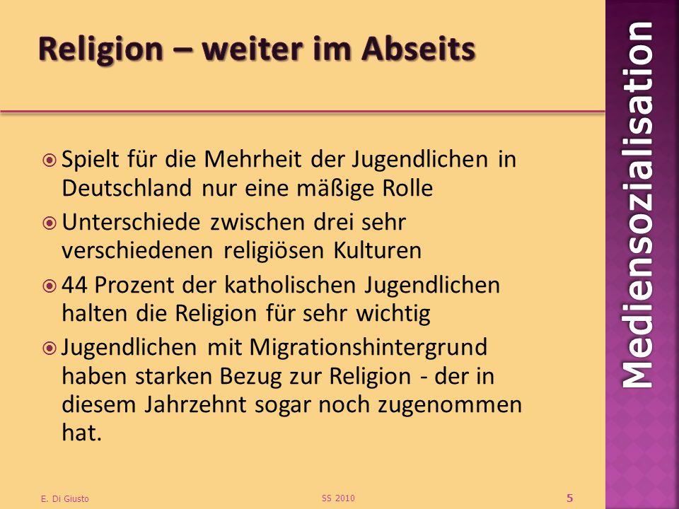 Religion – weiter im Abseits