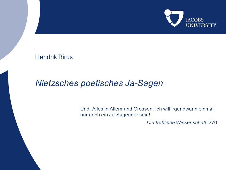 Nietzsches poetisches Ja-Sagen