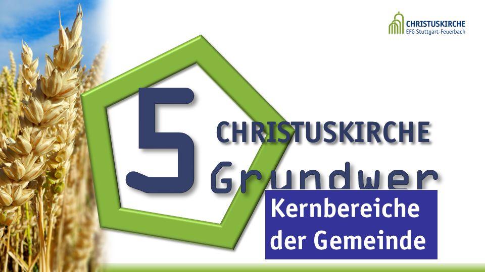 5Grundwerte CHRISTUSKIRCHE Kernbereiche der Gemeinde