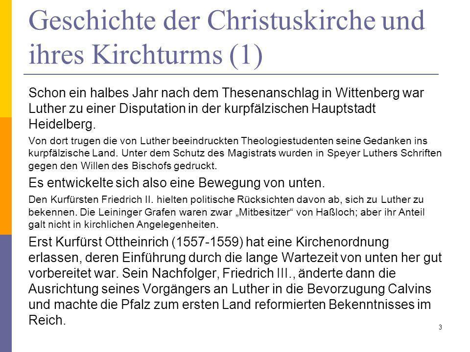 Geschichte der Christuskirche und ihres Kirchturms (1)