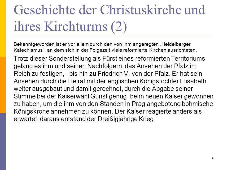 Geschichte der Christuskirche und ihres Kirchturms (2)