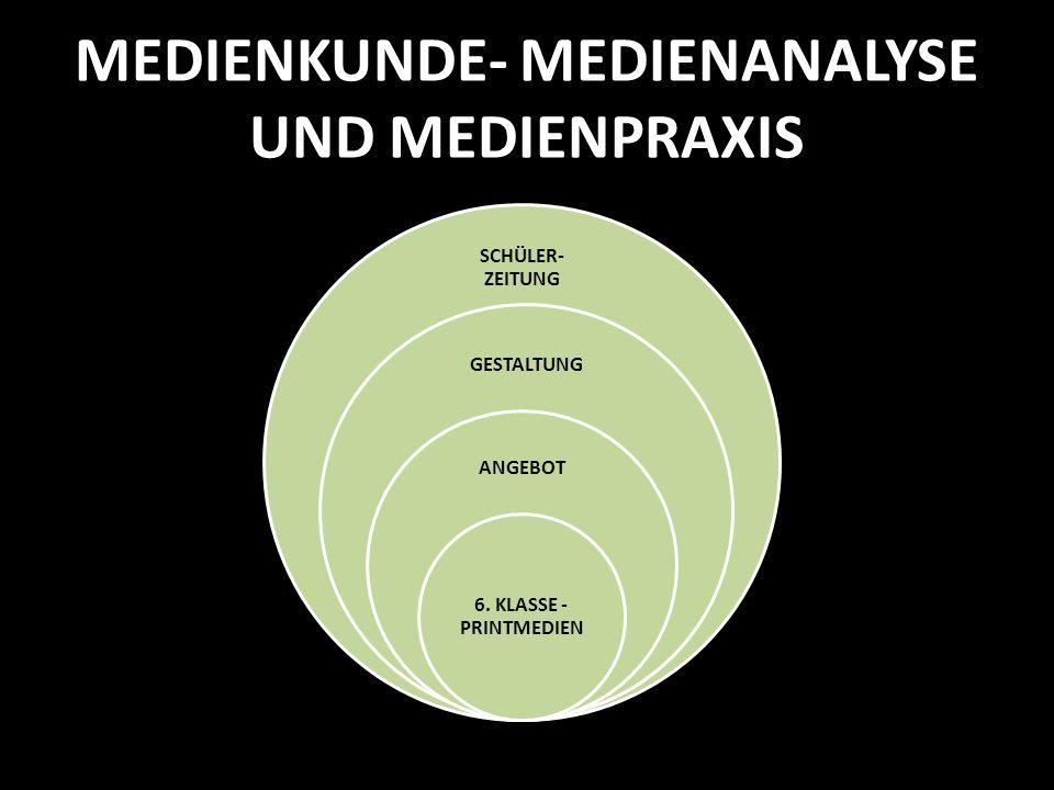 MEDIENKUNDE- MEDIENANALYSE UND MEDIENPRAXIS