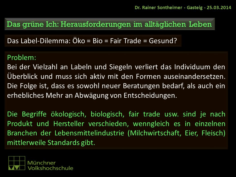 Dr. Rainer Sontheimer - Gasteig - 25.03.2014