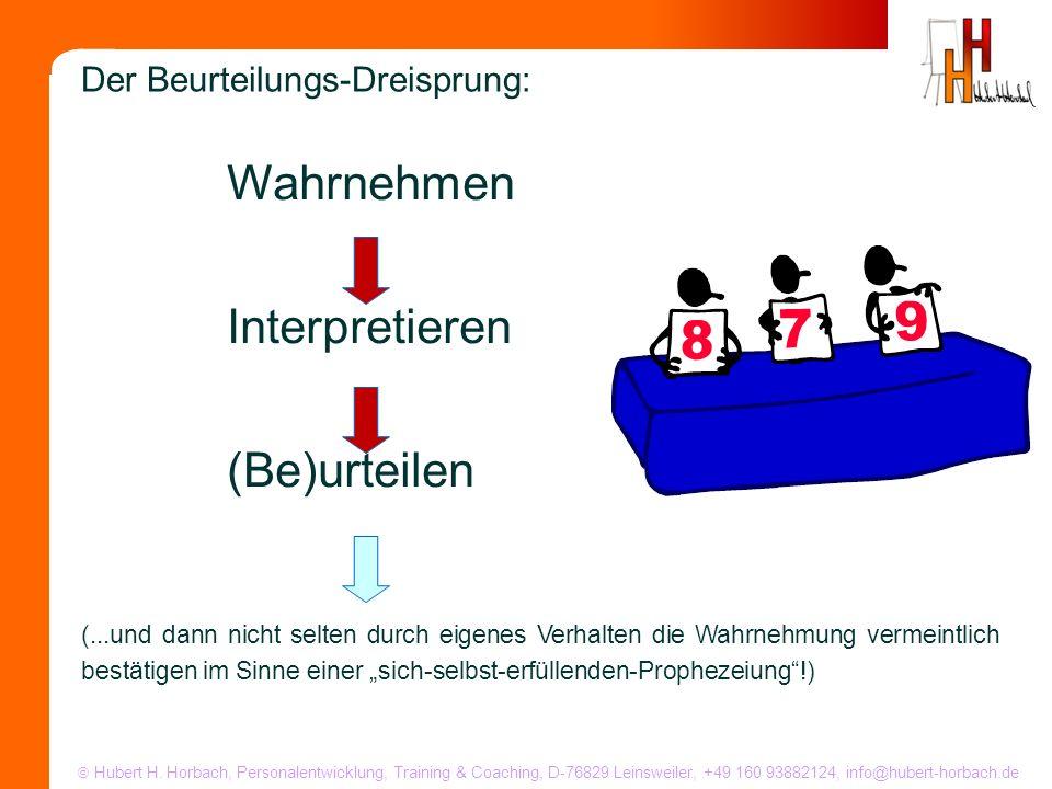 Wahrnehmen Interpretieren (Be)urteilen Der Beurteilungs-Dreisprung: