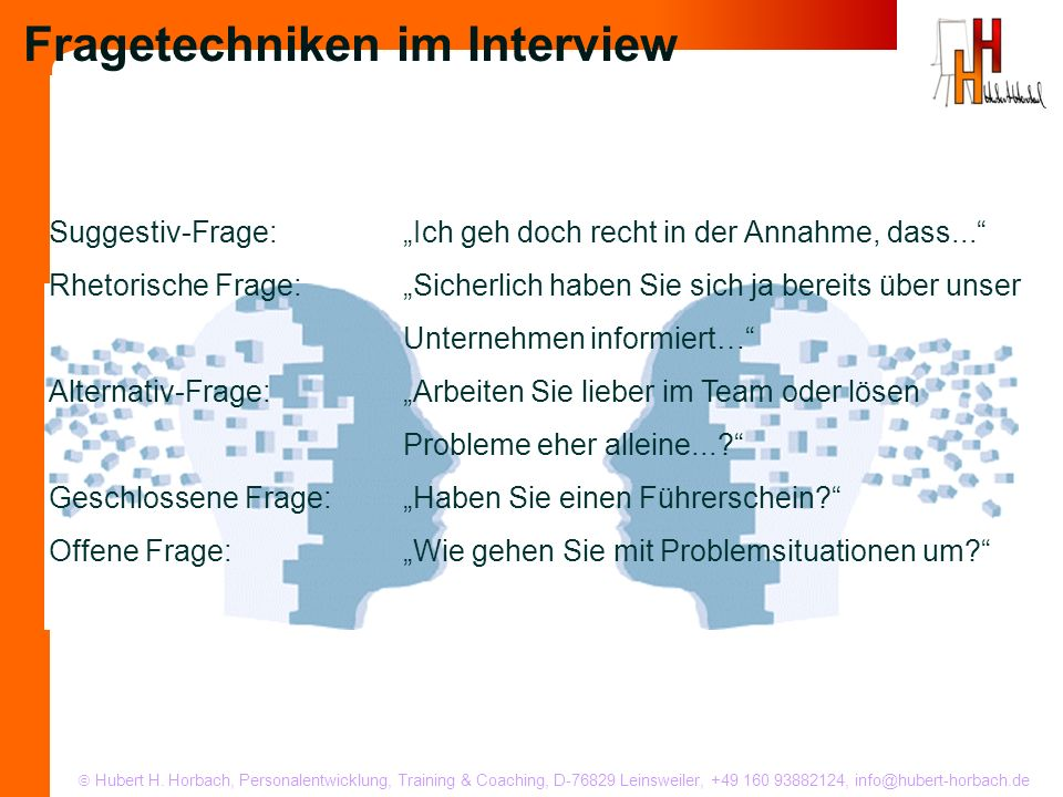 Fragetechniken im Interview