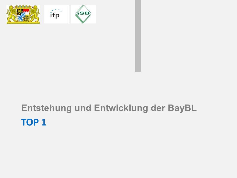 Entstehung und Entwicklung der BayBL