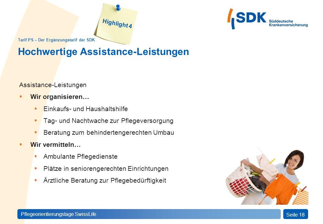 Hochwertige Assistance-Leistungen