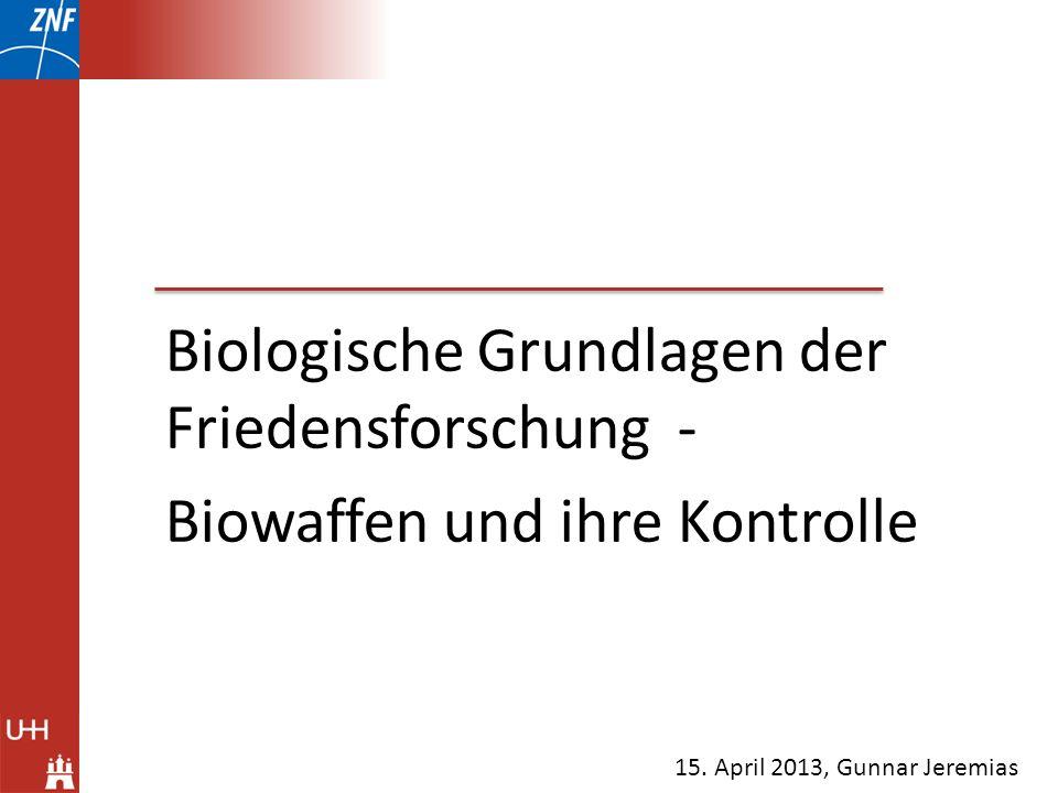 Biologische Grundlagen der Friedensforschung -