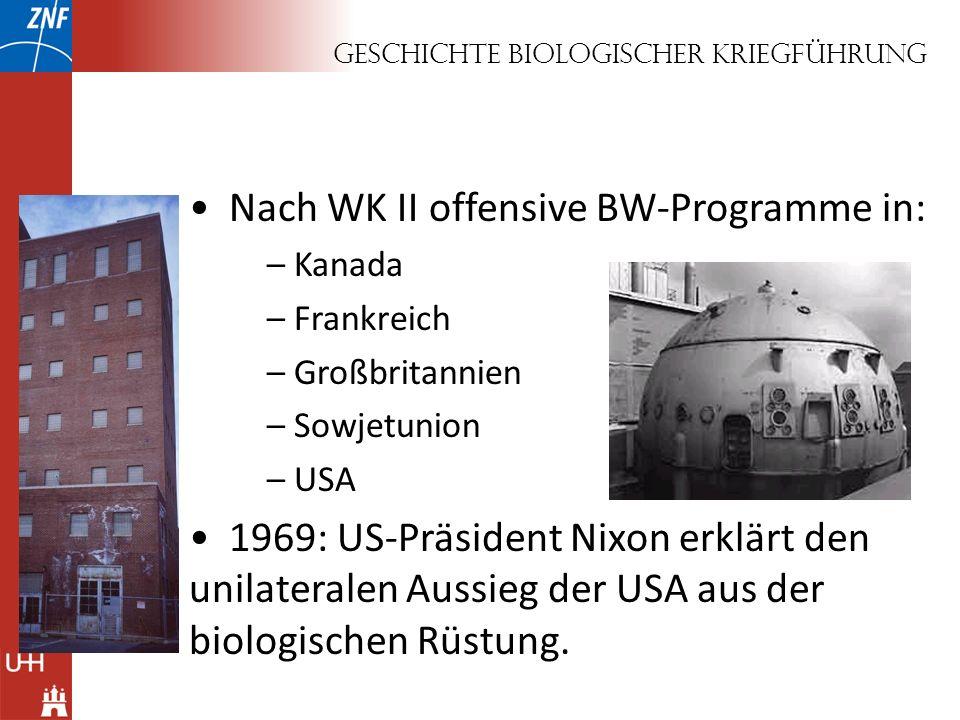 Geschichte biologischer Kriegführung