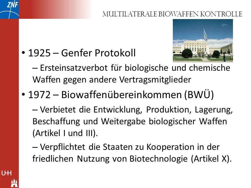 MultilateralE biowaffen kontrolle
