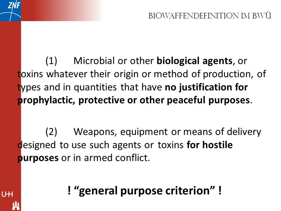 Biowaffendefinition Im BWÜ