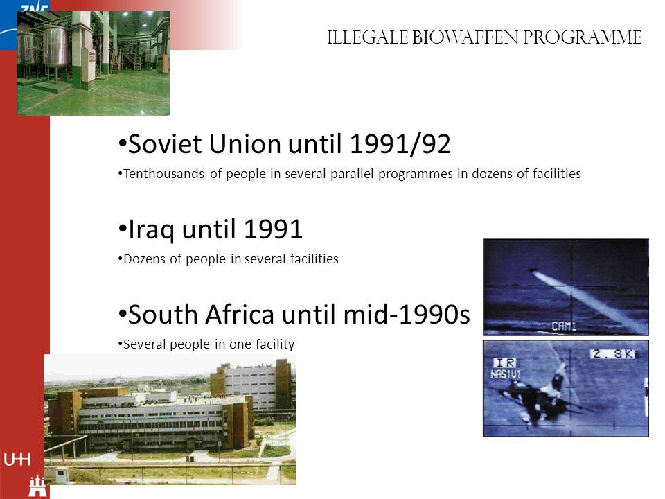Illegale biowaffen programme