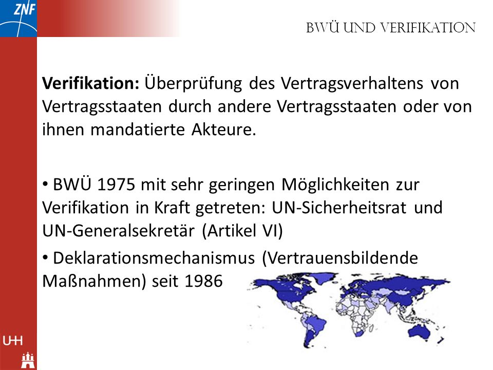 Deklarationsmechanismus (Vertrauensbildende Maßnahmen) seit 1986