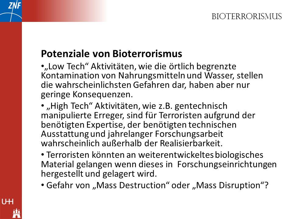 Potenziale von Bioterrorismus