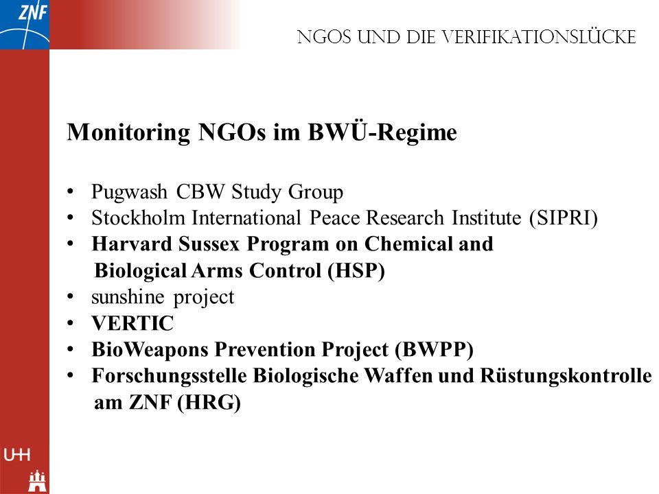 NGOS und die Verifikationslücke