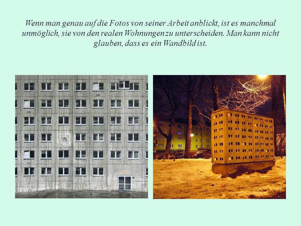 Wenn man genau auf die Fotos von seiner Arbeit anblickt, ist es manchmal unmöglich, sie von den realen Wohnungen zu unterscheiden.
