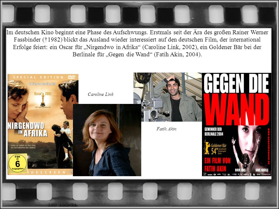 Im deutschen Kino beginnt eine Phase des Aufschwungs