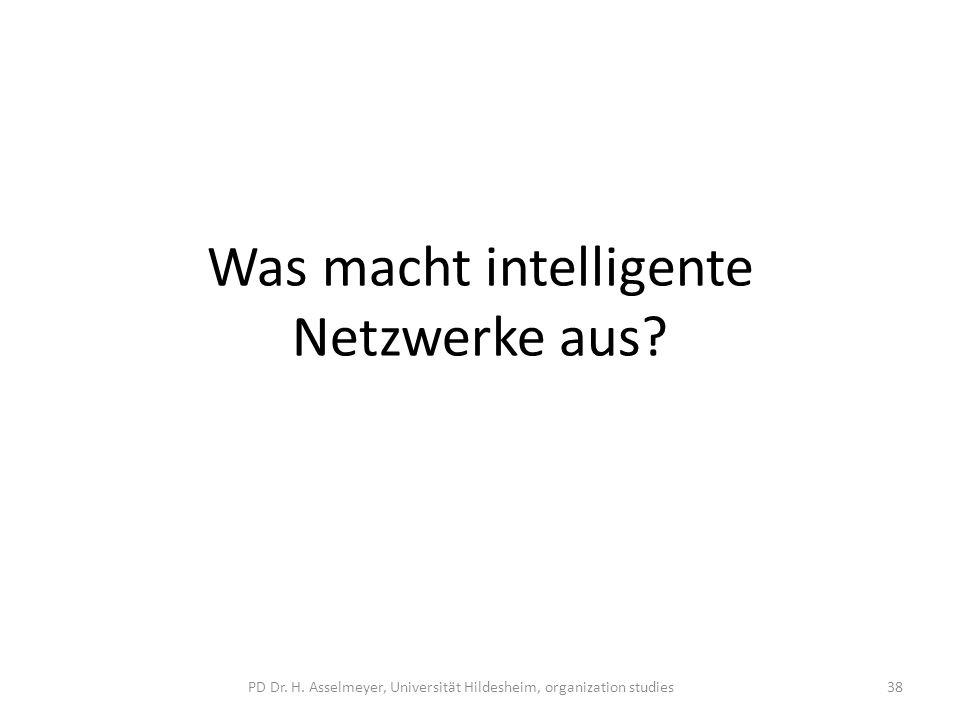 Was macht intelligente Netzwerke aus