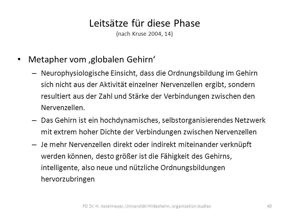 Leitsätze für diese Phase (nach Kruse 2004, 14)