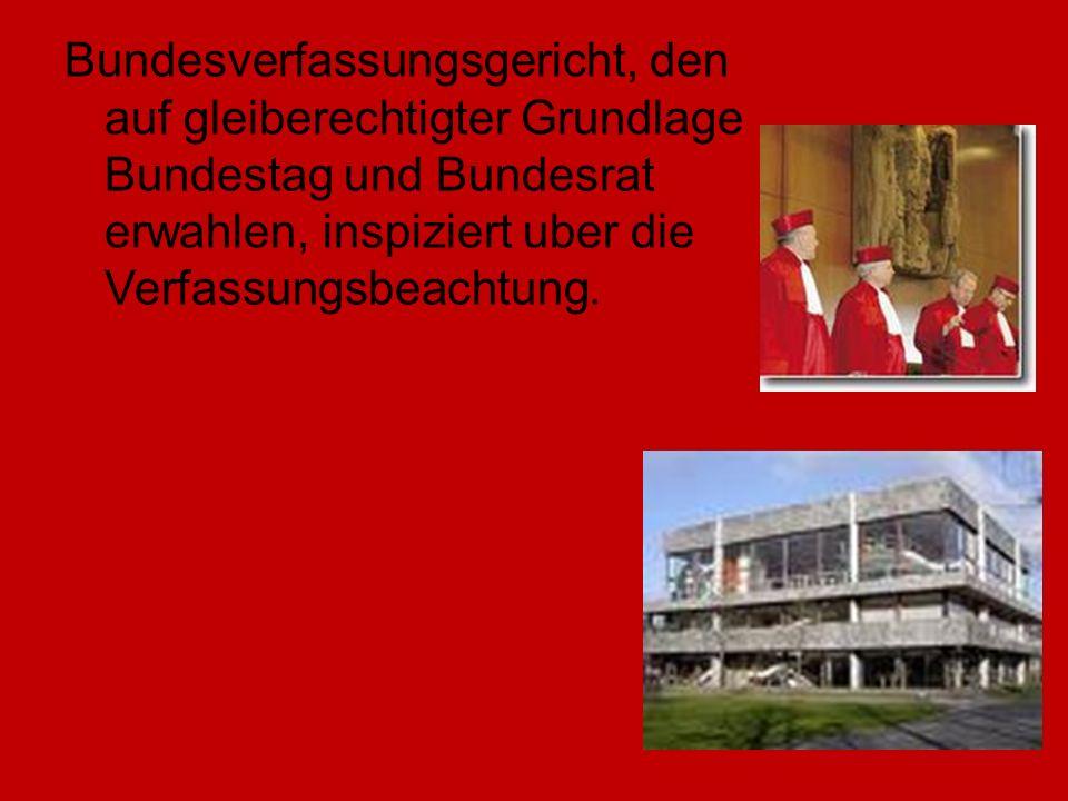 Bundesverfassungsgericht, den auf gleiberechtigter Grundlage Bundestag und Bundesrat erwahlen, inspiziert uber die Verfassungsbeachtung.