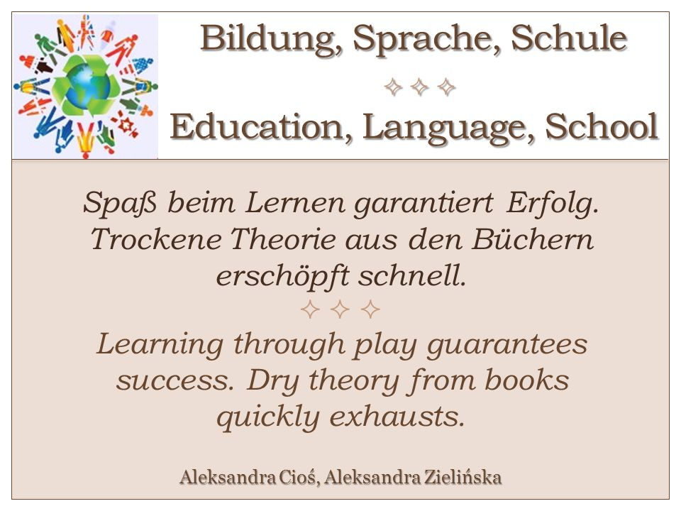 Bildung, Sprache, Schule    Education, Language, School