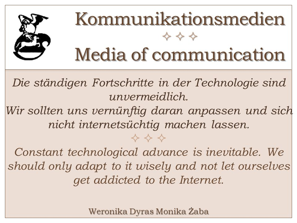 Kommunikationsmedien    Media of communication