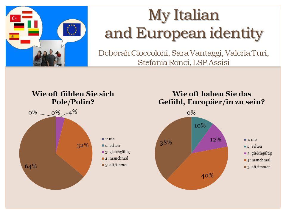 My Italian and European identity o Deborah Cioccoloni, Sara Vantaggi, Valeria Turi, Stefania Ronci, LSP Assisi