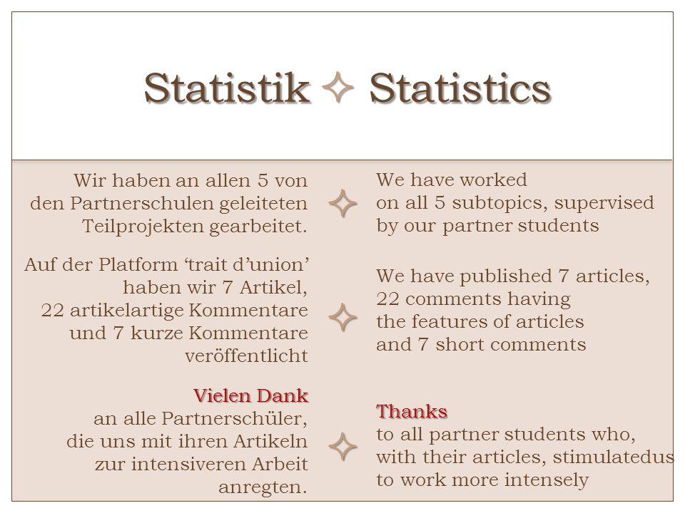 Statistik  Statistics