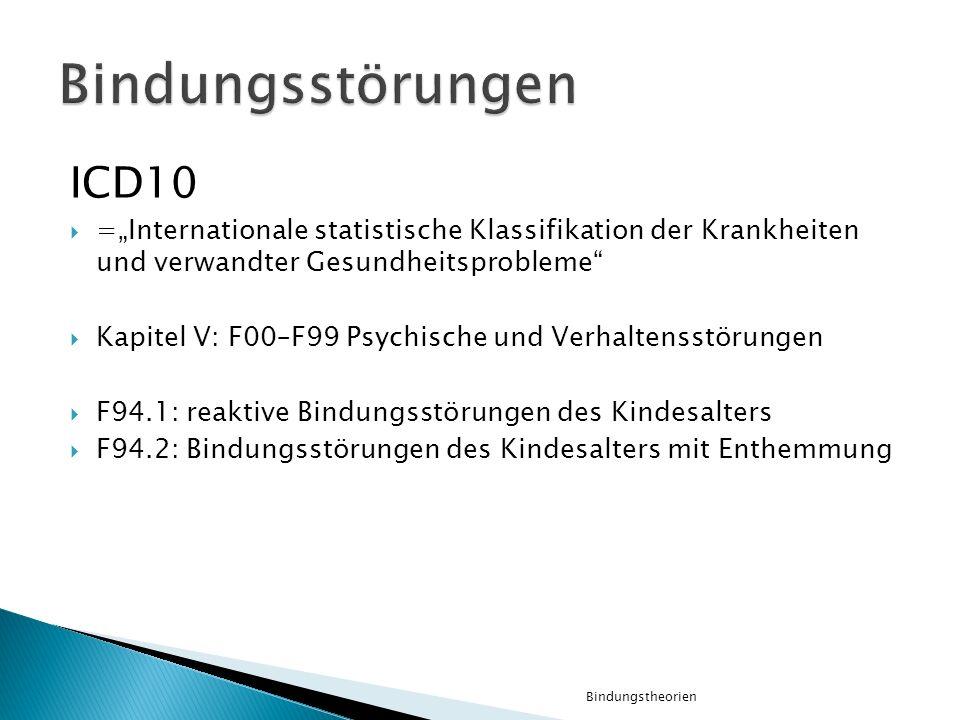 Bindungsstörungen ICD10