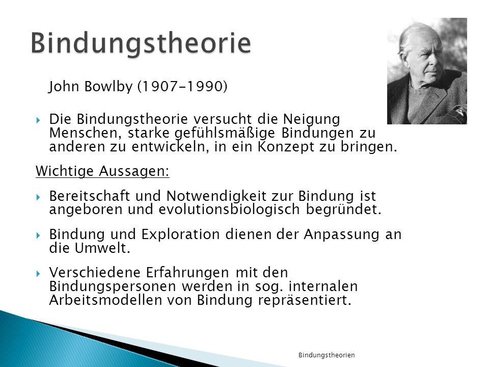 Bindungstheorie John Bowlby (1907-1990)