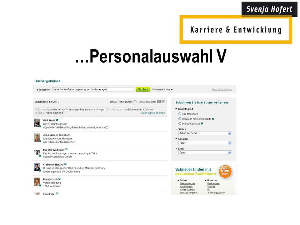 …Personalauswahl V