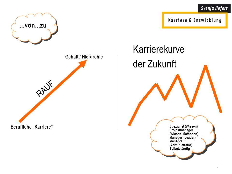 Karrierekurve der Zukunft RAUF ...von...zu Gehalt / Hierarchie