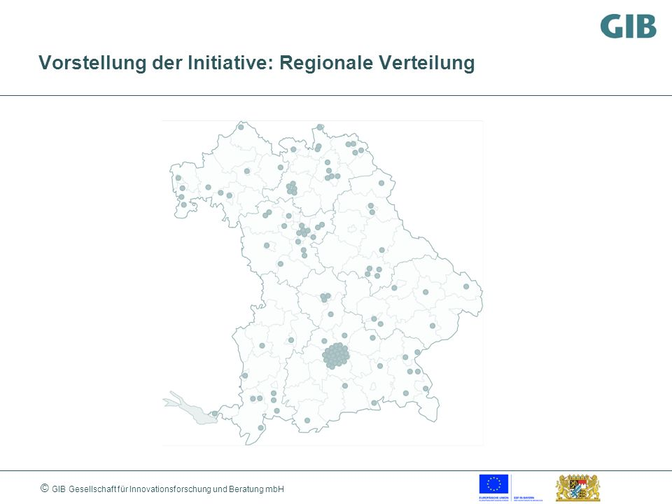 Vorstellung der Initiative: Regionale Verteilung